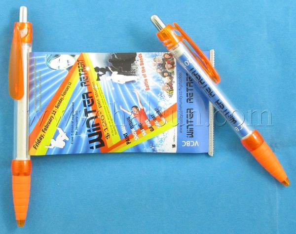 Promotional pens with pull out