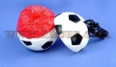 Disposable raincoats in balls with key rings, compressed football poncho