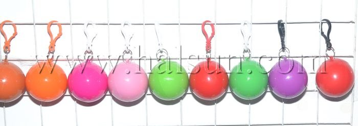 compressed disposable raincoats in plastic ball